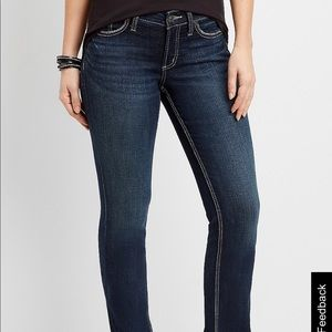 Silver Aiko mid slim bootcut jeans